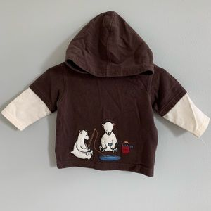 Gymboree 3-6 month Boys Long Sleeve Shirt Hoodie